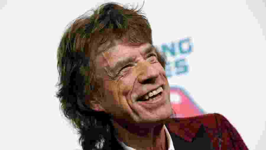 """Mick Jagger em abertura da exposição """"Exhibitionism: The Rolling Stones"""", em Nova York - Reuters"""