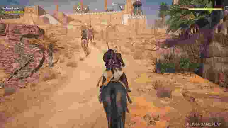 Jogadores poderão utilizar cavalos para navegar os enormes ambientes abertos do game - Reprodução
