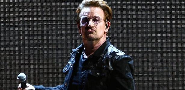 O vocalista Bono, líder do U2: banda volta ao Brasil em outubro