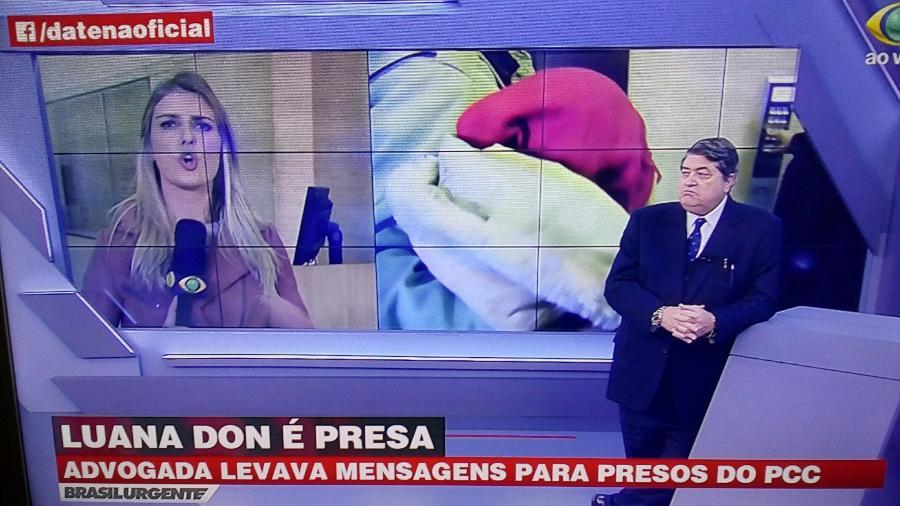 Datena comenta prisão da ex-repórter da RedeTV! Luana Don - Reprodução/Band