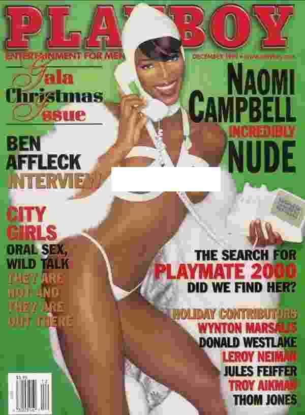 A super top model Naomi Campbell posou para a Playboy em 1999 - Divulgação