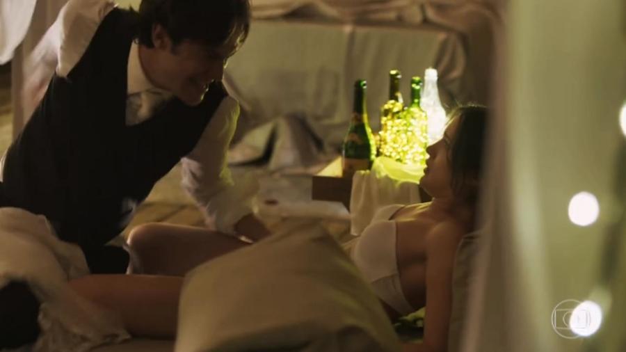 """Clara (Bianca Bin) foi violentada por Gael (Sergio Guizé) em """"O Outro Lado do Paraíso"""" - Reprodução/TV Globo"""