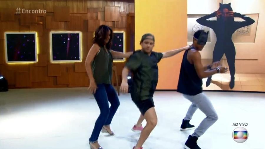 """Fátima dançou durante o """"Encontro"""" - Reprodução/TV Globo"""