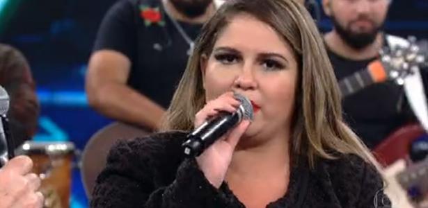 Cantora Marília Mendonça participa do programa do Faustão
