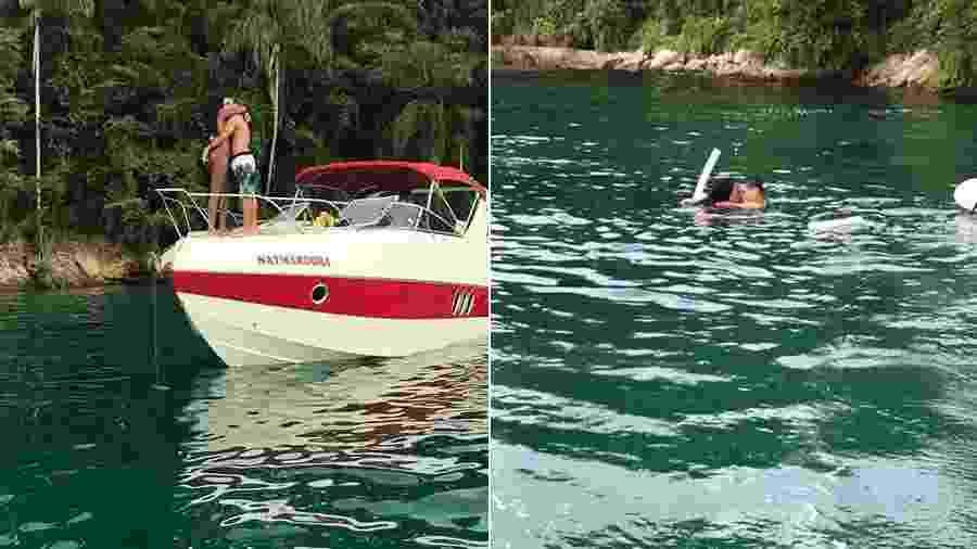 a6abafefe8671 Namorando  Ludmilla é fotografada aos beijos com rapaz no mar de ...