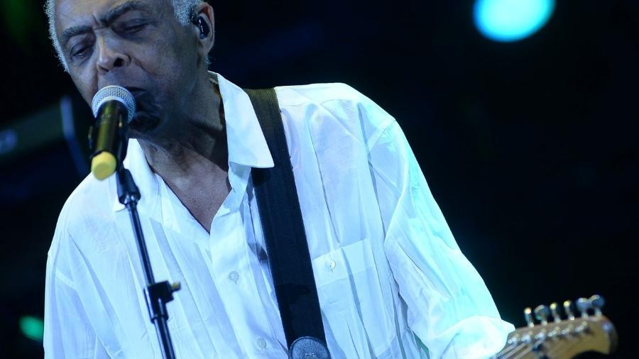 Gilberto Gil em show com Ivete Sangalo em junho, no Allianz Parque, em São Paulo - Francisco Cepeda/AgNews