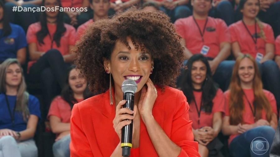 """Taís Araújo participa do """"Domingão do Faustão"""" - Reprodução/TV Globo"""