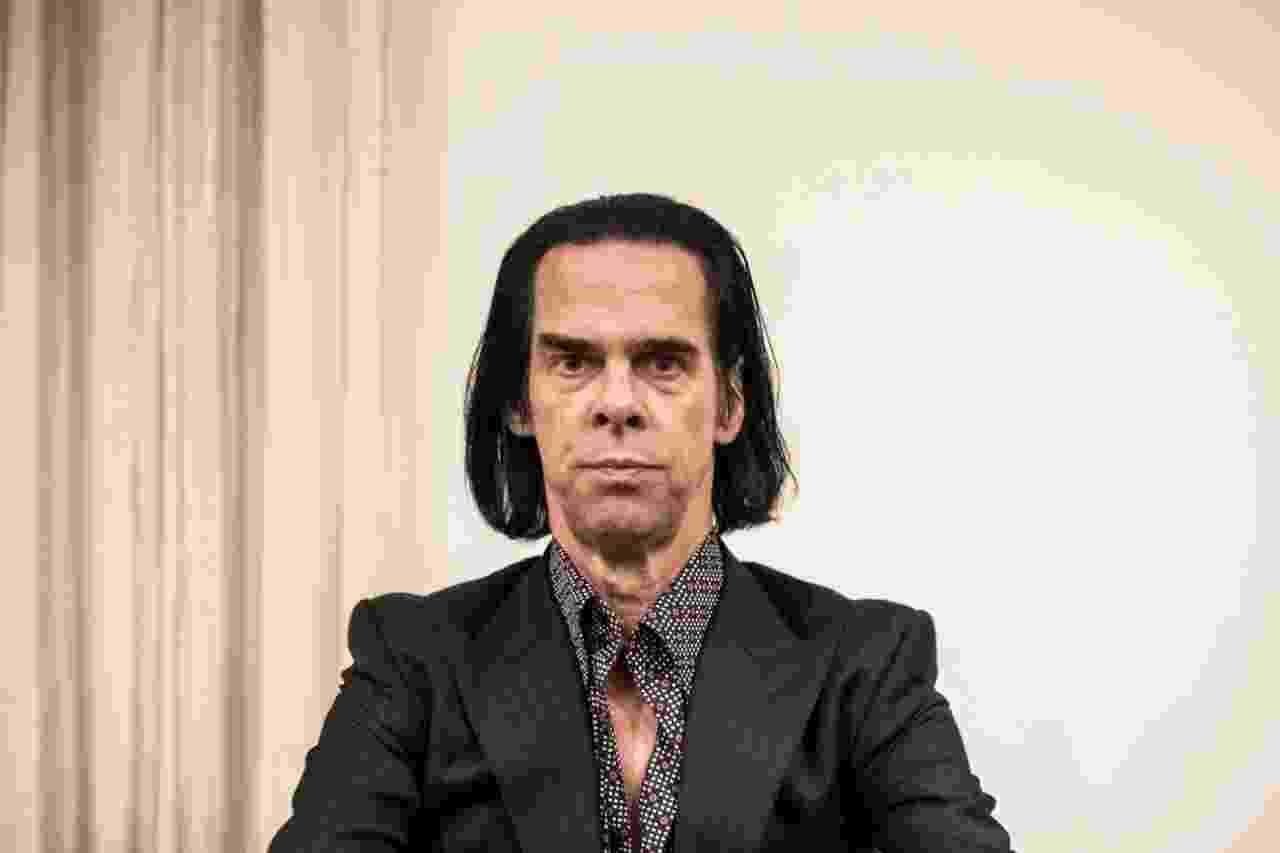 Nick Cave em coletiva de imprensa em São Paulo - Lucas Lima/UOL
