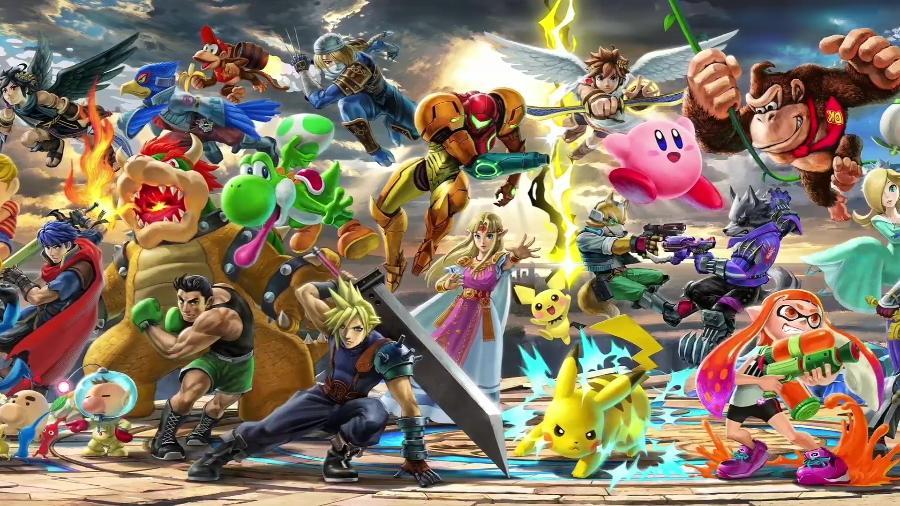 """""""Super Smash Bros. Ultimate"""" é o jogo mais recente da franquia, com mais de 60 personagens jogáveis! - Reprodução"""