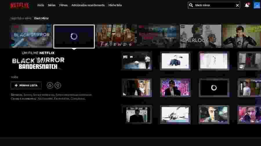 """""""Black Mirror: Bandersnatch"""" já está sendo promovido pela Netflix - Reprodução/Netflix"""