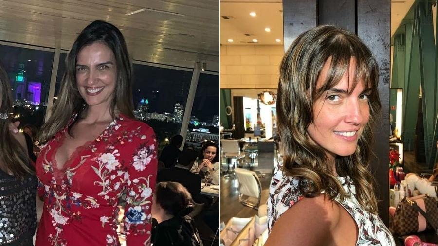 Luciana Cardoso antes e depois de renovar o visual - Reprodução/Instagram