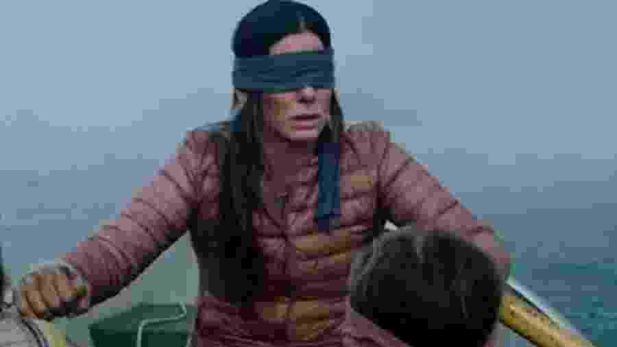 """Sandra Bullock no filme """"Bird Box"""" - Reprodução"""