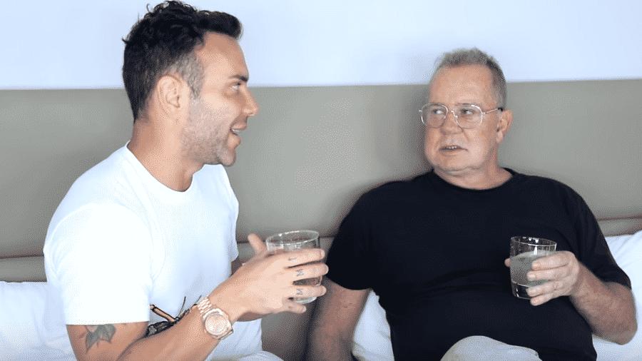 Matheus Mazzafera entrevista Luiz Fernando Guimarães - Reprodução/YouTube