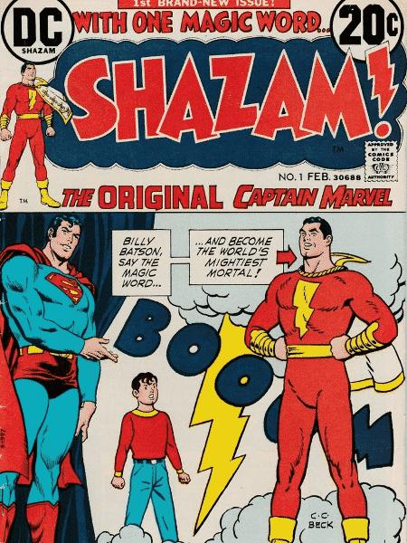 """Capa da HQ de """"Shazam"""" - Reprodução - Reprodução"""