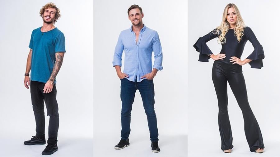 """Alan, Diego e Isabella estão no quarto paredão do """"BBB19"""" - Montagem/Globo/Victor Pollak"""