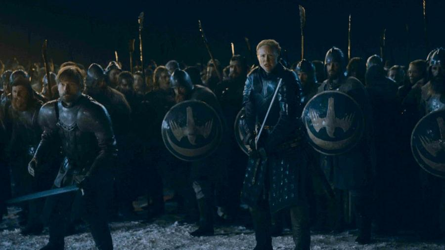 """Cena do terceiro episódio da oitava temporada de """"Game of Thrones"""" - Divulgação/HBO"""