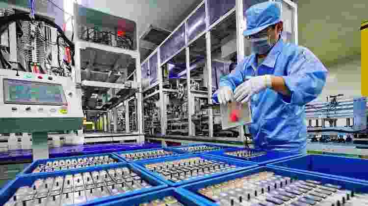 Fábrica de baterias de carros elétricos na China - Xinhua/Yang Shiyao - Xinhua/Yang Shiyao