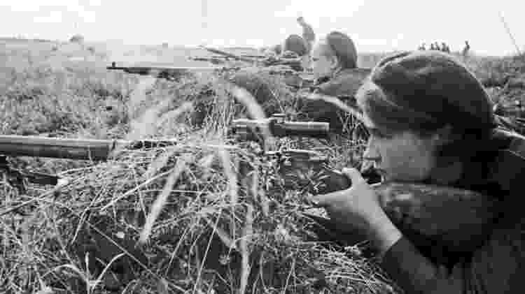 Além de Lyudmila, 2 mil franco-atiradoras se alistaram na guerra pela União Soviética - Divulgação