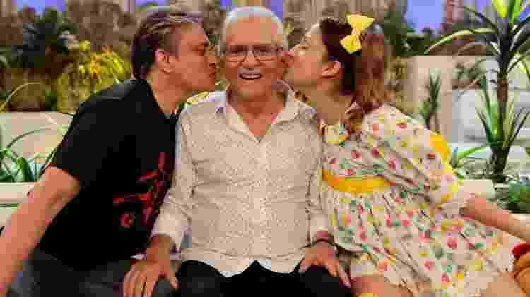 A família Nóbrega: Marcelo, Carlos Alberto e Dalila - Lourival Ribeiro/SBT - Lourival Ribeiro/SBT