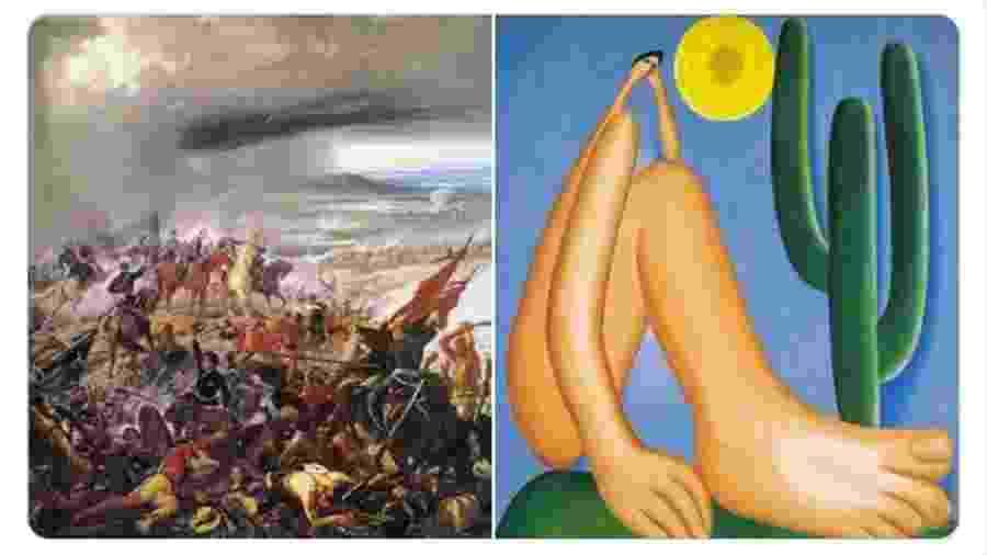 Batalha do Avaí e Abaporu - Reprodução