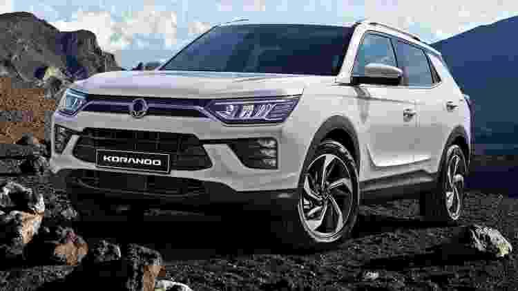 Revelada em março no Salão de Genebra, nova geração do SUV compacto Korando chega em meados de 2020, diz empresa - Divulgação