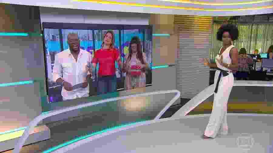 Maju Coutinho conversa com Érico Brás, Fernanda Gentil e Fabiana Karla - Reprodução/TV Globo
