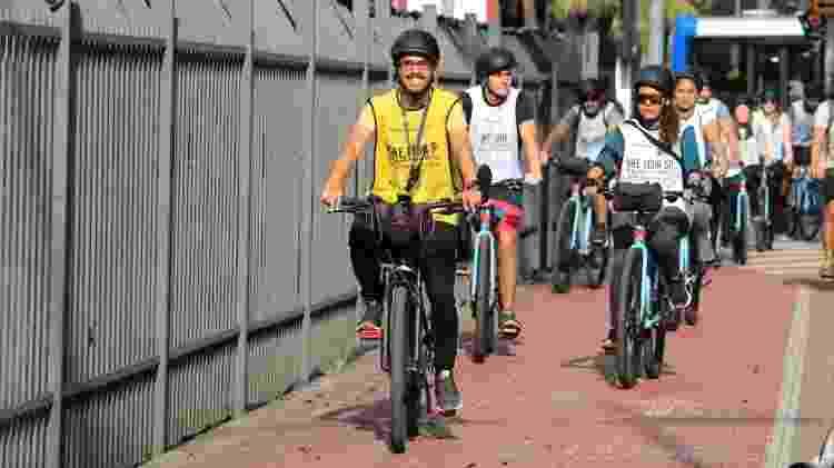 Sem perrengue: grande parte do roteiro percorre vias planas do centro de São Paulo - Reprodução centronovo.biketoursp.com.br