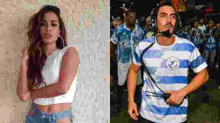 Anitta e Gabriel David - Reprodução/Instagram/Montagem UOL