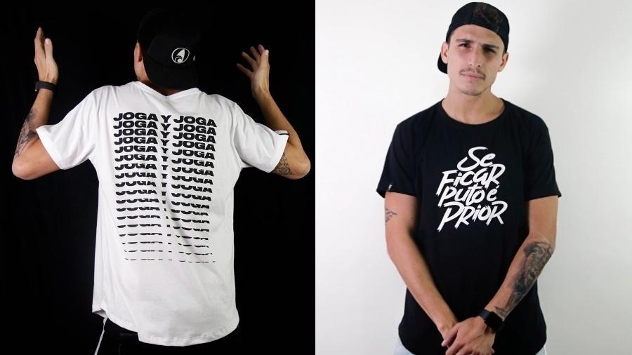 Felipe Prior lançou uma linha de roupa em parceria com a marca Alot - Reprodução/Instagram