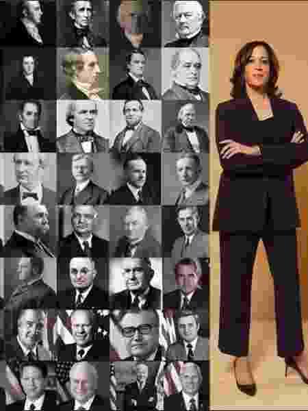 Kamala Harris e os outros vice-presidentes americanos. - Reprodução/Twitter - Reprodução/Twitter