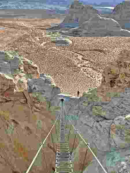 A escada aérea do Cave Peak - Aman/Divulgação - Aman/Divulgação