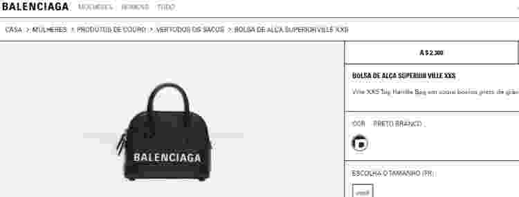 Bolsa Balenciaga - Reprodução/Balenciaga - Reprodução/Balenciaga