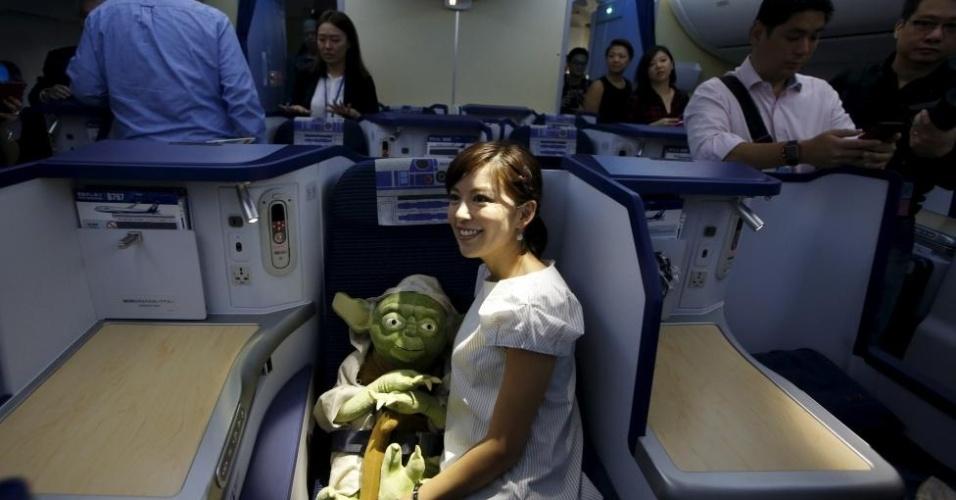 Viagem teve direito a boneco de Yoda