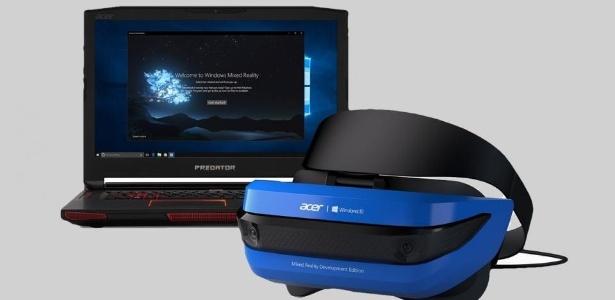 Versão da Acer de novo dispositivo de realidade mista da Microsoft. - Reprodução
