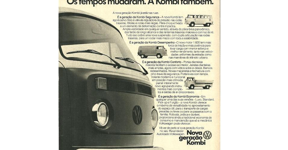Anúncio Volkswagen Kombi 1975