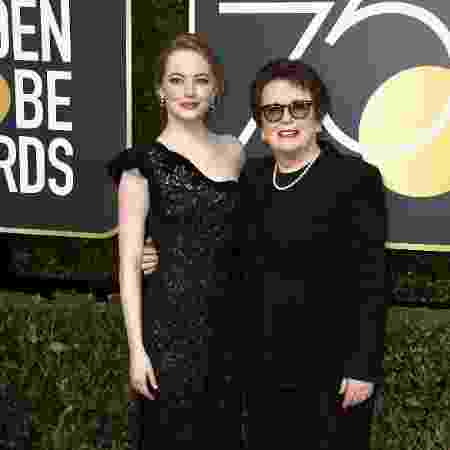 Emma Stone, de Louis Vuitton, e Billie Jean King - Getty Images - Getty Images