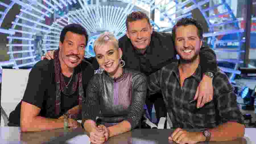 """Lionel Richie, Katy Perry, Ryan Seacrest e Luke Bryan estão no novo """"American Idol"""" - Divulgação"""