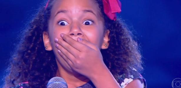 """Ana Julia levou um usto ao ser escolhida para entrar no """"The Voice Kids"""""""
