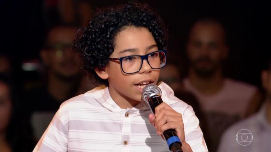 """Felipe Machado canta """"Pro Dia Nascer Feliz"""" e passa de fase no """"The Voice Kids"""" - Reprodução/TV Globo"""