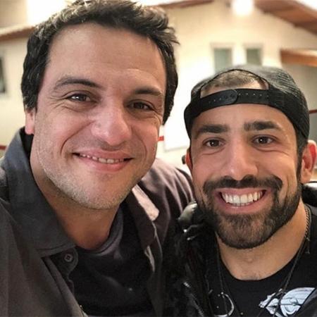 Rodrigo Lombardi posta foto com o ex-BBB Kaysar  - Reprodução/Instagram
