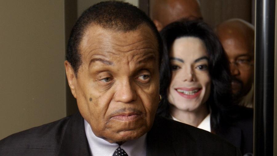 Joe Jackson e o filho Michael Jackson - Getty Images