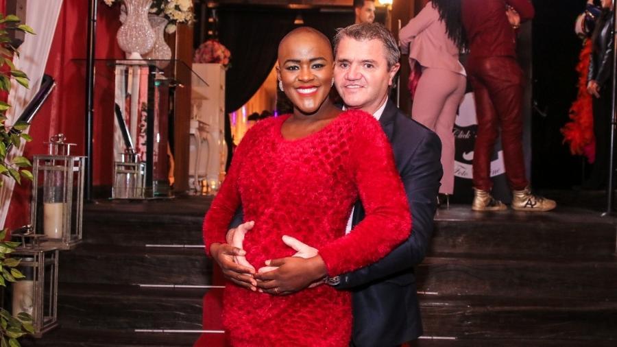 A ex-BBB Angélica Ramos é casada com o empresário francês Laurent Mougeot e espera uma menina - Thiago Duran/AgNews