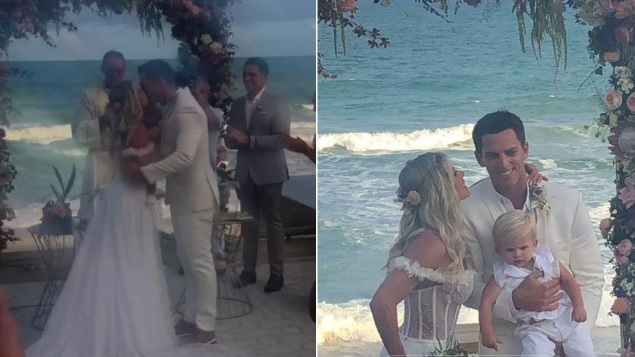 Casamento de Karina Bacchi e Amaury Nunes - Reprodução/Instagram