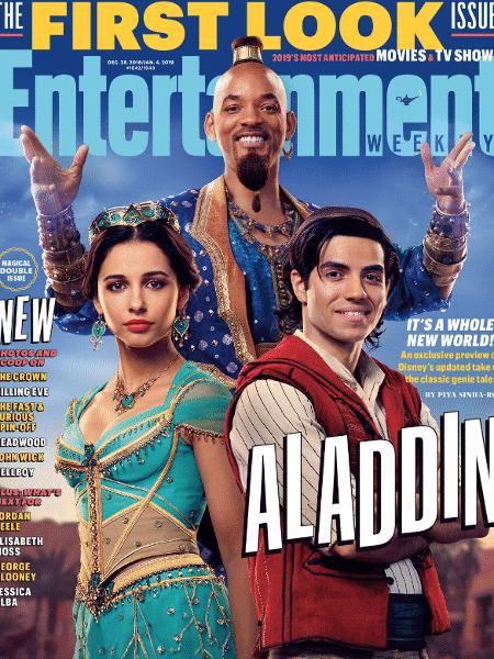 """Capa da """"Entertainment Weekly"""" destaca """"Aladdin"""" - Reprodução/EW - Reprodução/EW"""