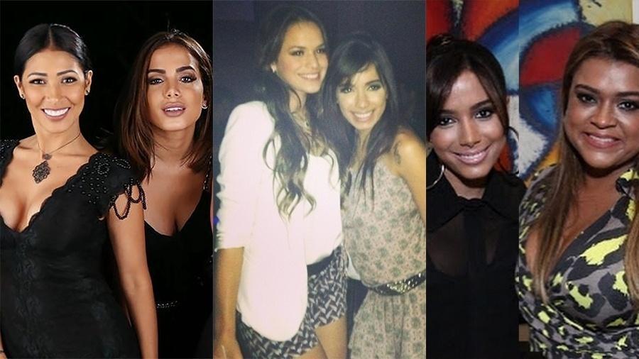 Anitta com Simaria, Bruna Marquezine e Preta Gil - Reprodução