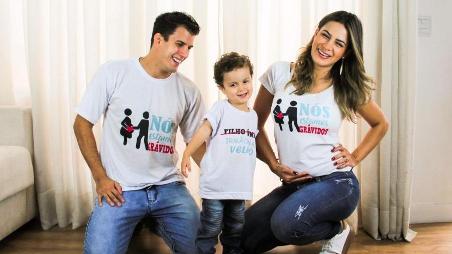 Com o filho Theo, Felipe Sertanejo e Lucilene Caetano anunciam segunda gravidez - Fernando Zanelato/ LV Assessoria
