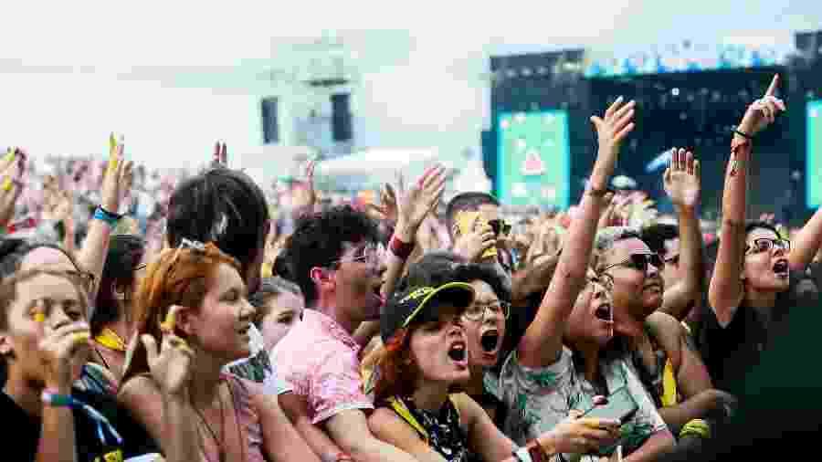 Imagem do público no Lollapalooza Brasil 2019 - Iwi Onodera/UOL
