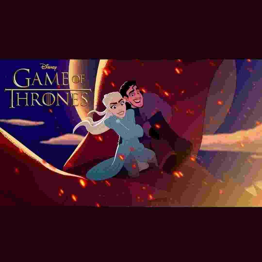 """Daenerys e Jon Snow, de """"Game of Thrones"""", ganham uma versão Alladin, feita pelos artistas brasileiros da Combo Estúdio - Divulgação/Combo Estúdio"""