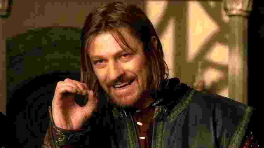 """Sean Bean como Boromir em meme famoso de """"O Senhor dos Anéis"""" - reprodução/O Senhor dos Anéis"""