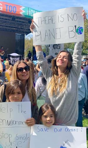 Gisele Bündchen no protesto global Climate Strike